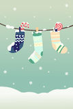 Winter Christmas stockings Royalty Free Stock Images