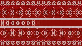 Winter christmas style loading 4k video - white knitted pattern on red background stock video footage