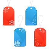 Winter and Christmas tags Stock Image