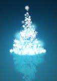 Winter Christmas Tree. Christmas tree made up of snowflakes vector illustration