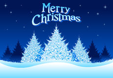 Winter Christmas!. Christmas Tree background. All elements are separated and also a hi res jpeg included Stock Photos