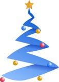 Winter Christmas tree illustration Royalty Free Stock Photos