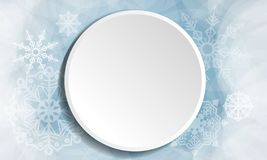 Winter christmas white button vector royalty free illustration