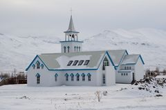 Winter church Royalty Free Stock Photos