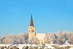 Winter church Royalty Free Stock Photos