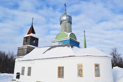 Winter church Stock Photography
