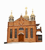 Winter church Royalty Free Stock Images
