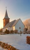 Winter church Royalty Free Stock Photography
