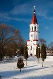 Winter Church. Belarus Stock Image