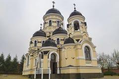 Winter Church of Capriana orthodox Monastery royalty free stock photos