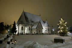 Winter church Stock Images