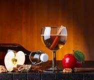 Winter cider still-life Stock Photo