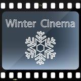 Winter Cinema. Illustration winter cinema as a symbol of the film Royalty Free Stock Photos