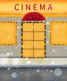 Winter cinema illustration. Warm colors digital painting. Movie. Warm colors digital painting. Winter cinema illustration. Movie mood Royalty Free Stock Images