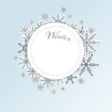 Winter circle background Stock Photos