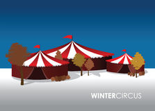 An winter circus background Stock Images