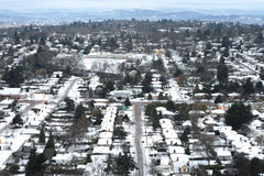 Winter city Stock Photos