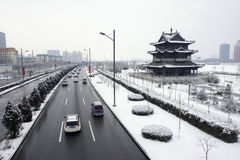 Winter city Royalty Free Stock Images