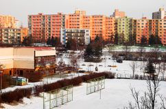 Winter city Stock Image