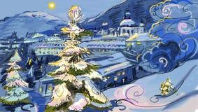 Winter city. Royalty Free Stock Image