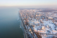 Winter city from above Royalty Free Stock Photography