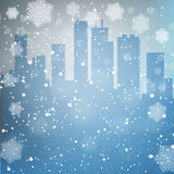 Winter city background Royalty Free Stock Photos