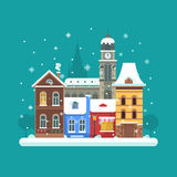 Winter City Background Royalty Free Stock Images