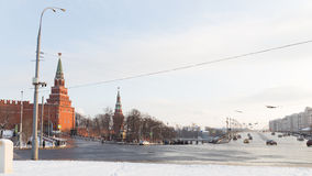 Winter in the city center, Moscow Royalty Free Stock Image
