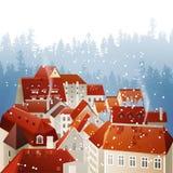 Winter city landscape Stock Images