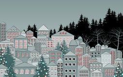Winter city landscape Royalty Free Stock Image