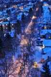 Winter city night Royalty Free Stock Photos