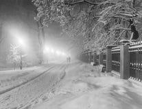 Winter city park Stock Images