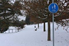 Winter city park Stock Photography