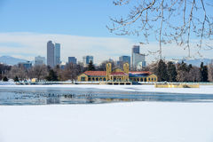 Winter at City Park Royalty Free Stock Image