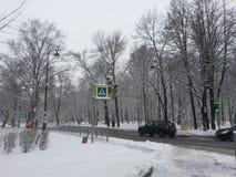 The winter city. Stock Photos