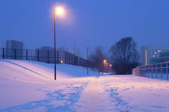 Winter city path Stock Photography