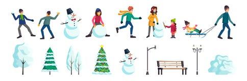 Winter City People Set