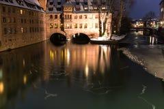 Winter city. City river sky Stock Photography
