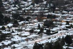 Winter city scene Stock Photo