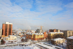 Winter city sight Royalty Free Stock Photo
