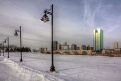 Winter City Skyline royalty free stock photo