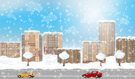 Winter city Royalty Free Stock Photography
