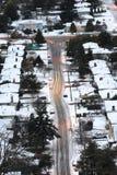 Winter city street Stock Photo