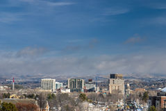 Winter in the City of trees Boise Idaho Royalty Free Stock Photography