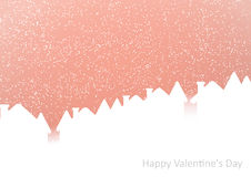 Winter city under the snow on a pink background Royalty Free Stock Images