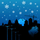 Winter city vector Stock Photos