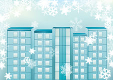 Winter cityscape. Royalty Free Stock Photography