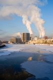 Winter cityscape Royalty Free Stock Image
