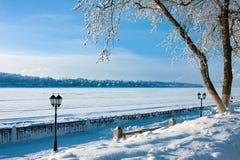 Winter cityscape stock photo