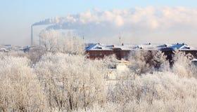 Winter cityscape. Stock Image